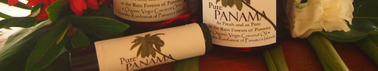 "Pure Virgin Coconut Oil ""As Fresh and as Pure as the Rainforest  of Panama"""
