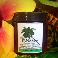 Virgin coconut oil and lime body polish